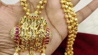 🤩🤩Looks like real gold Ramparivar gundlamala @ offer Price 🤩🤩