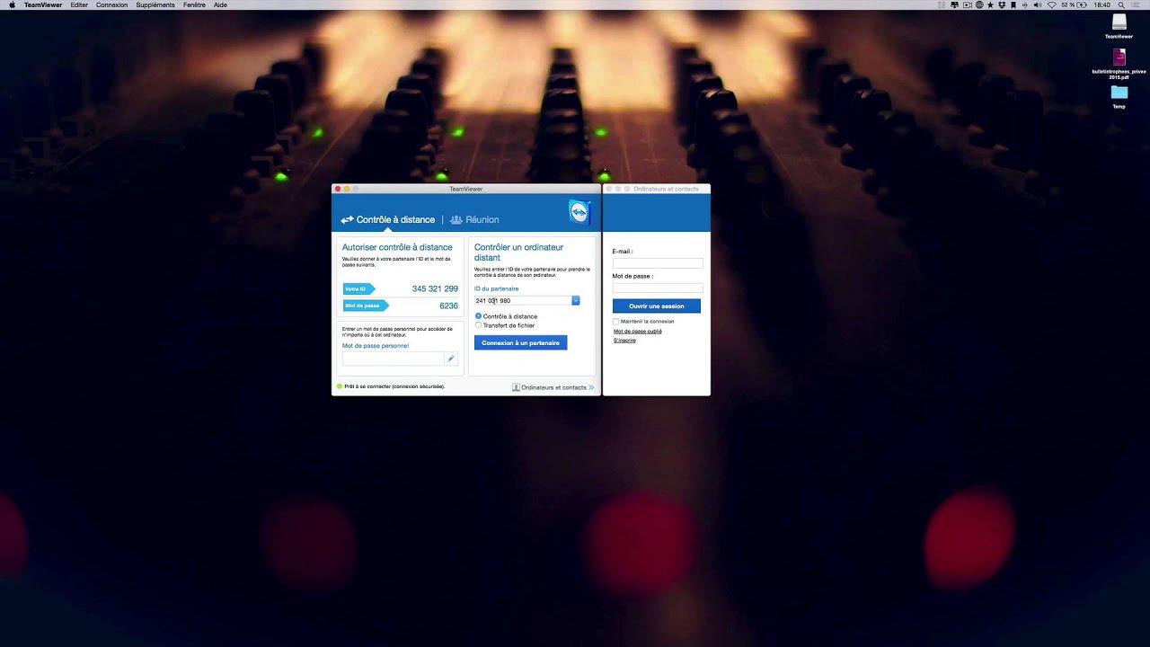Prendre le controle dun Mac ou dun PC avec Teamviewer sur Mac