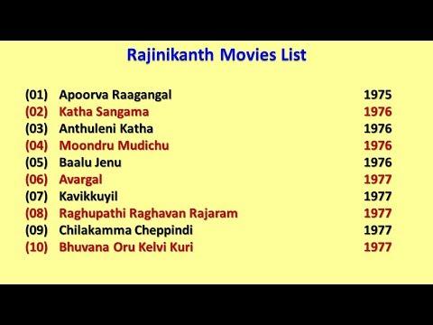 Rajinikanth Movies List Youtube