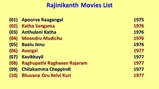 Rajinikanth Movies List
