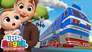 Naik Kereta Api Tut Tut Yuk! 🚂 Kartun Anak | Little Angel Bahasa Indonesia