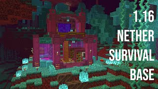 Minecraft: How to Build a 1.16 Nether Survival Base | Nether House Tutorial [1.16 Nether Update]