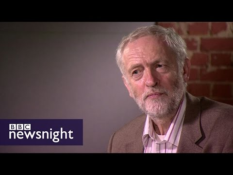 Jeremy Corbyn Labour leadership interview - Newsnight