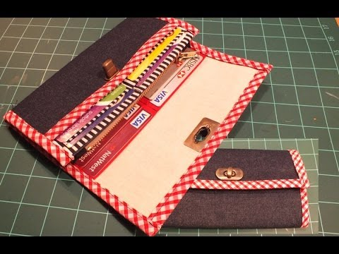 How to make a wallet / purse -  PART 1 of 2 /DIY Bag Vol 10A
