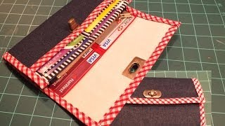 How To Make A Wallet / Purse -  Part 1 Of 2