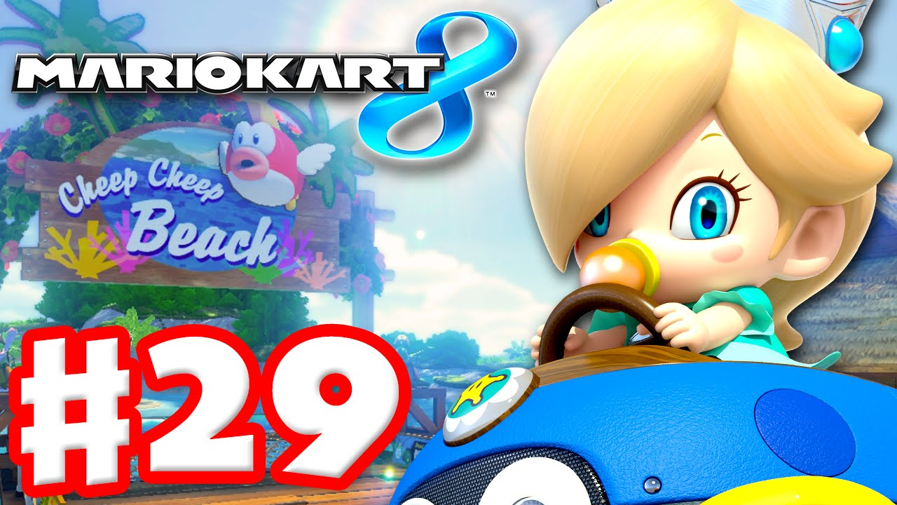 Mario kart 8 gameplay part 29 mirror shell cup for Mirror gameplay walkthrough