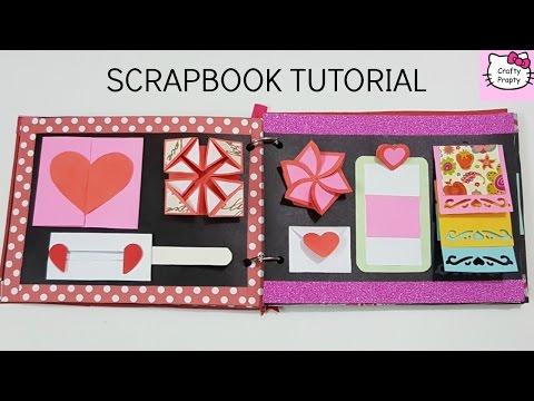 Scrapbook Tutorial/How to make Scrapbook/DIY Scrapbook Tutorial/Birthday Scrapbook Ideas