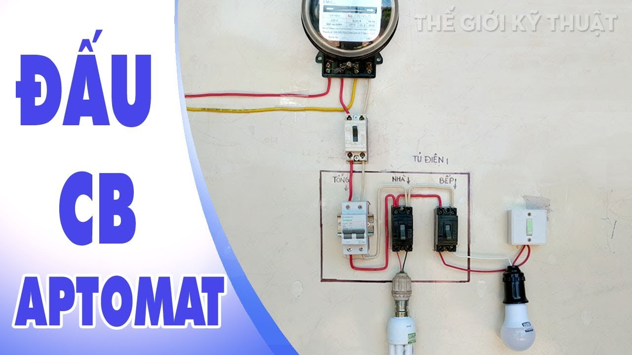 Cách Đấu Aptomat | CB Tủ Điện Bảo Vệ Hệ Thống Điện Gia Đình