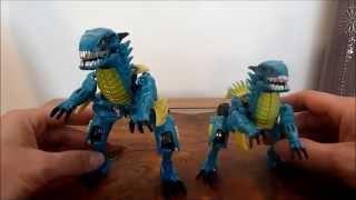 Transformers A.O.E. Dinobot SLASH & Comparison w/ k.o. SLASH Review
