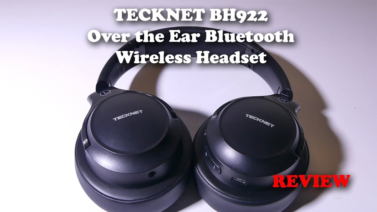 Tecknet Bh922 Over The Ear Bluetooth Headset Mic Test And Review Youtube