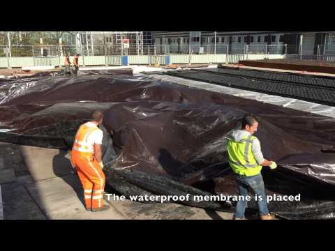 Construction of Orly-Square Blue-Green Roof-Park in Amsterdam