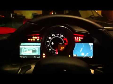 Ferrari F458 Start Up Sequence