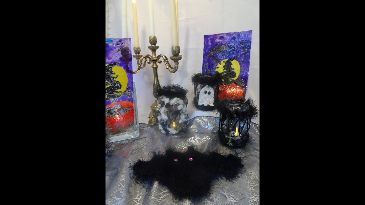 diy h kel idee fliegende fledermaus f r halloween fasching party deko selber machen youtube. Black Bedroom Furniture Sets. Home Design Ideas