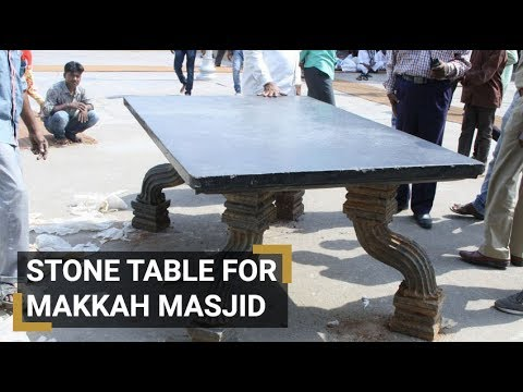 250 yr Old Stone table brought to Makkah Masjid