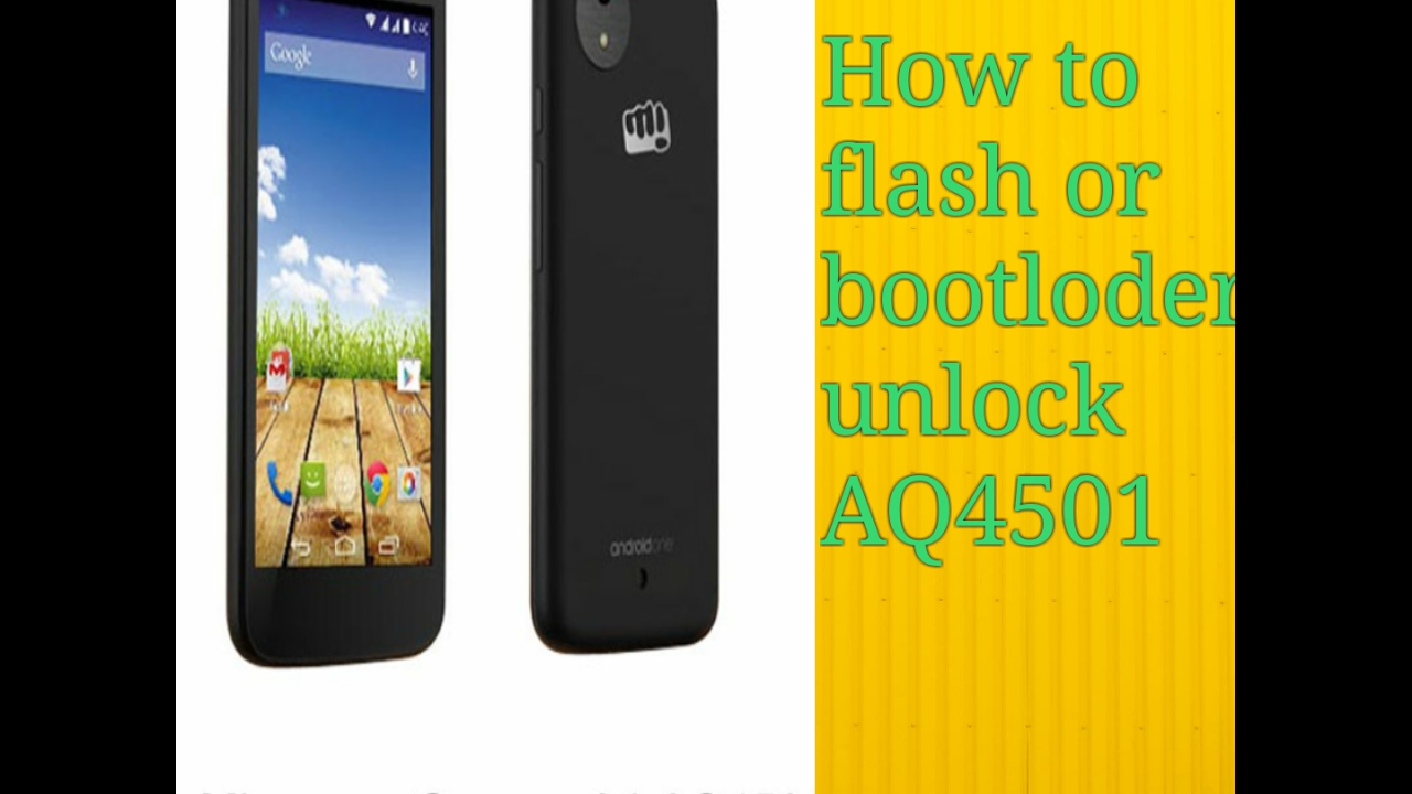 how to flash micro max aq4501 &bootloder unlock 100% tested
