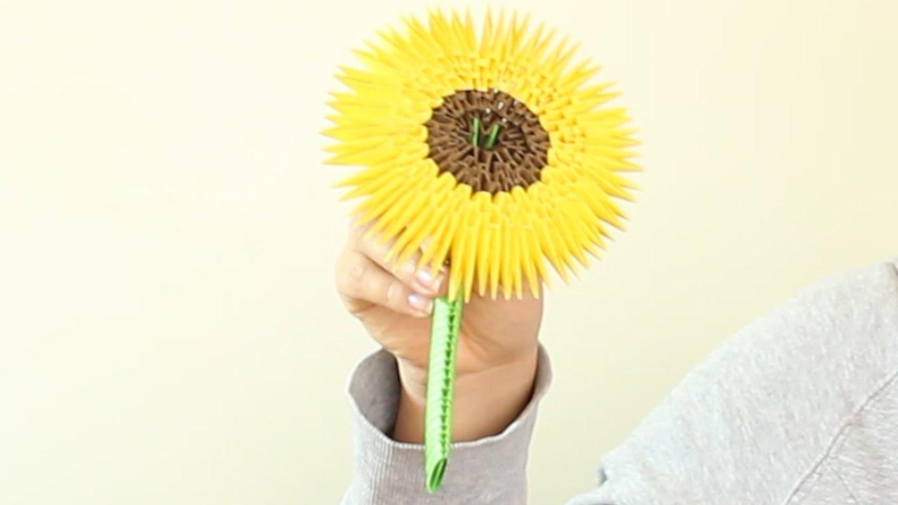 Sunflower Girasol Origami 3D