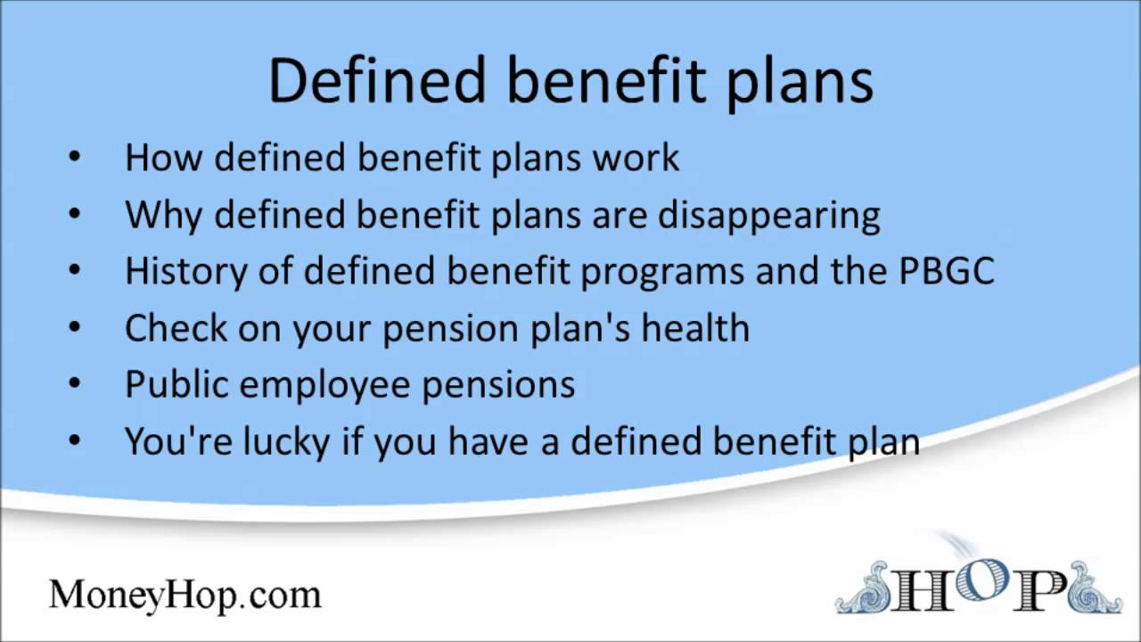 defined benefit plans youtube