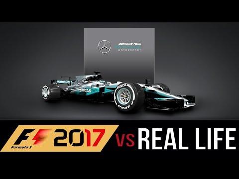 【F1 2017】VS Real Life / Lewis Hamilton Pole Lap at Spain Circuit de Barcelona-Catalunya