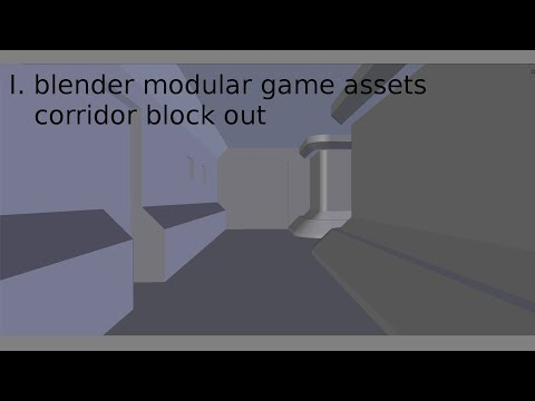 blender modular game assets corridor block out