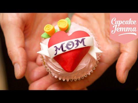 Save Heart Tattoo Cupcake Decoration Tutorial | Cupcake Jemma Snapshots