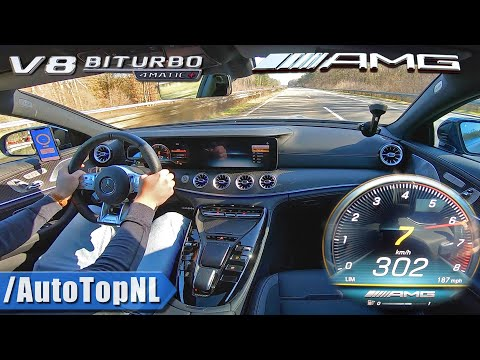 Mercedes AMG GT 63 S 4Matic+   302km/h AUTOBAHN NO SPEED LIMIT by AutoTopNL