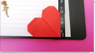 Origami :  ❤️  Cœur, marque-page