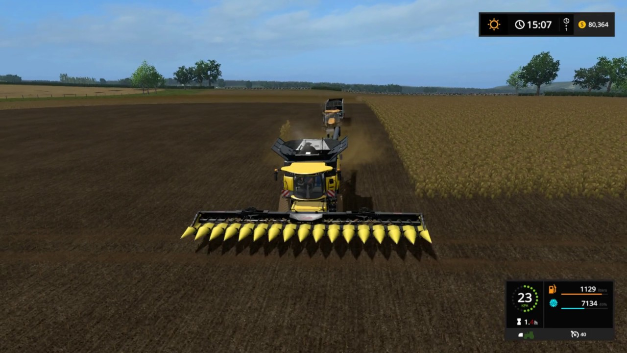 Farming simulator 17 - harvesting and selling sunflowers on Lawfolds,  Aberdeenshire ep 20