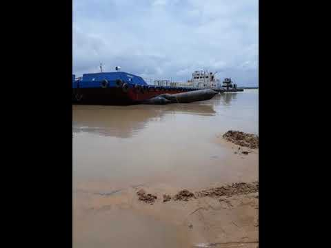 Cheapest way of Barge Launching in Niger River. Marine Engineering