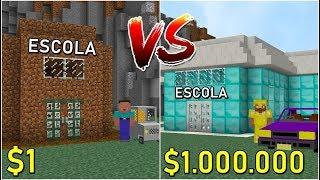 ESCOLA DE RICO VS ESCOLA DE POBRE NO MINECRAFT! QUAL ESCOLHER?