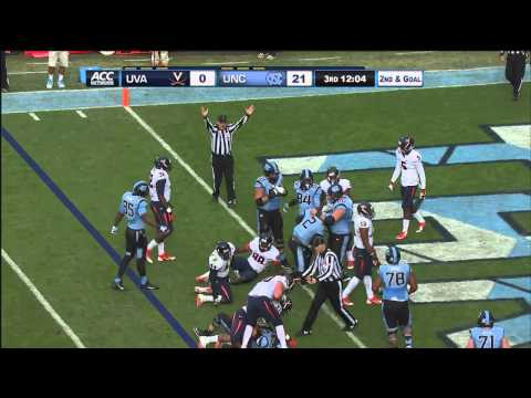 UNC Football: Highlights vs. Virginia
