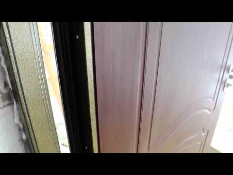 Стальная дверь. Три контура резинового уплотнителя.