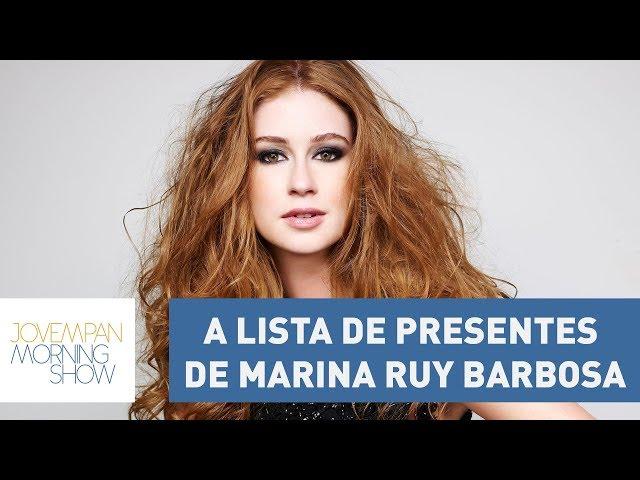 A lista de presentes do casamento de Marina Ruy Barbosa deixaria muita gente no prejuízo!