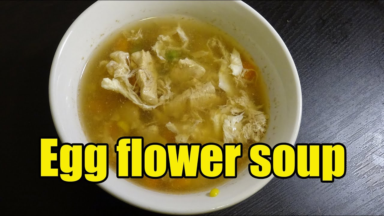 How to make egg flower soup - YouTube