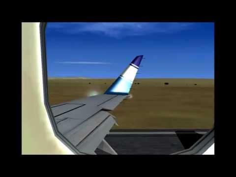 E170 Landing Egypt Air Express at Luxor