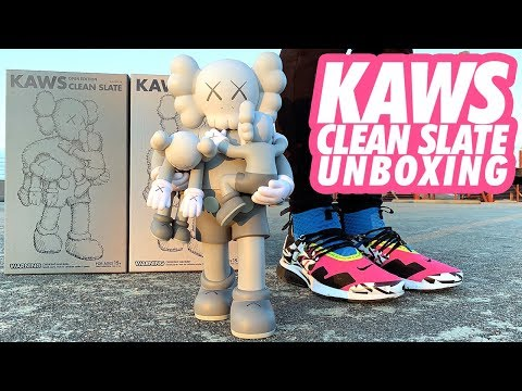 KAWS CLEAN SLATE 2018 UNBOXING + REVIEW!