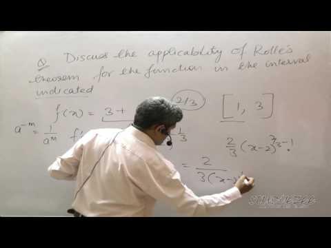 Class 12 Maths CBSE Rolle's Theorem 02