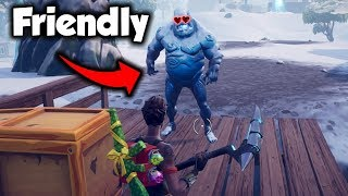 *CRAZY GLITCH* How To BEFRIEND Ice Zombies! (Fortnite)