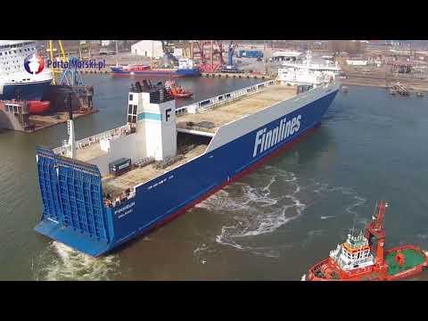 Statek ro-ro Finnsun wpłynął do Gdańskiej Stoczni Remontowa SA