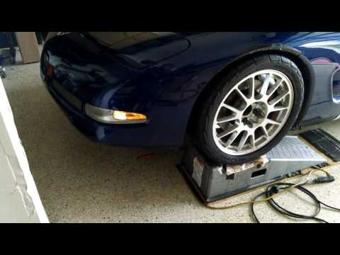 Corvette how to lower the front end ride height by froggy