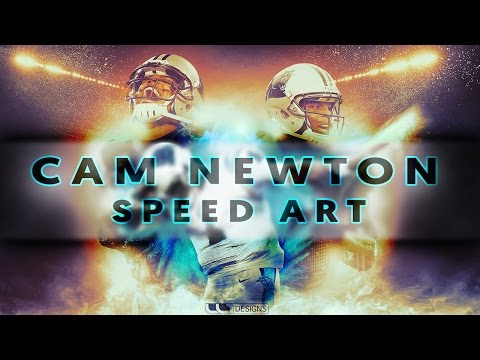 Sports Design | Cam Newton | Speed Art (Photoshop)