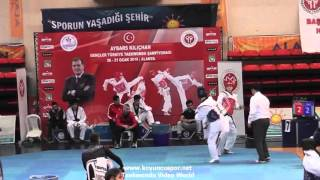 (7042)  68kg Bursa vs Balıkesir (2016 Turkish Junior TKD championships)