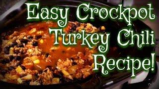 Easy CrockPot Turkey Chili Recipe | Vlogmas ep.8