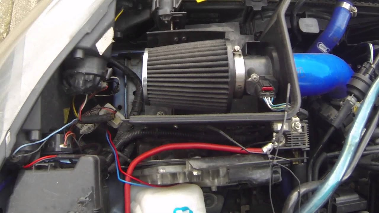 Seasick Steve Air Cleaner : Fiesta mk j induction kit with k n air filter youtube