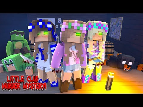 Minecraft THE LITTLE CLUB MURDER MYSTERY SPECIAL, GIRLS VS BOYS  - WHO IS THE KILLER??