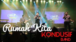 Download lagu Rumah Kita - God Bless | live Kondusif Band acara Bri - mo Kan Transaksimu di alun - alun kebumen