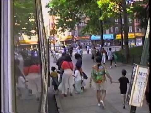Amsterdam Ave Bus Ride 1993 - pt 2 (fishbowl ride in Morningside Heights)