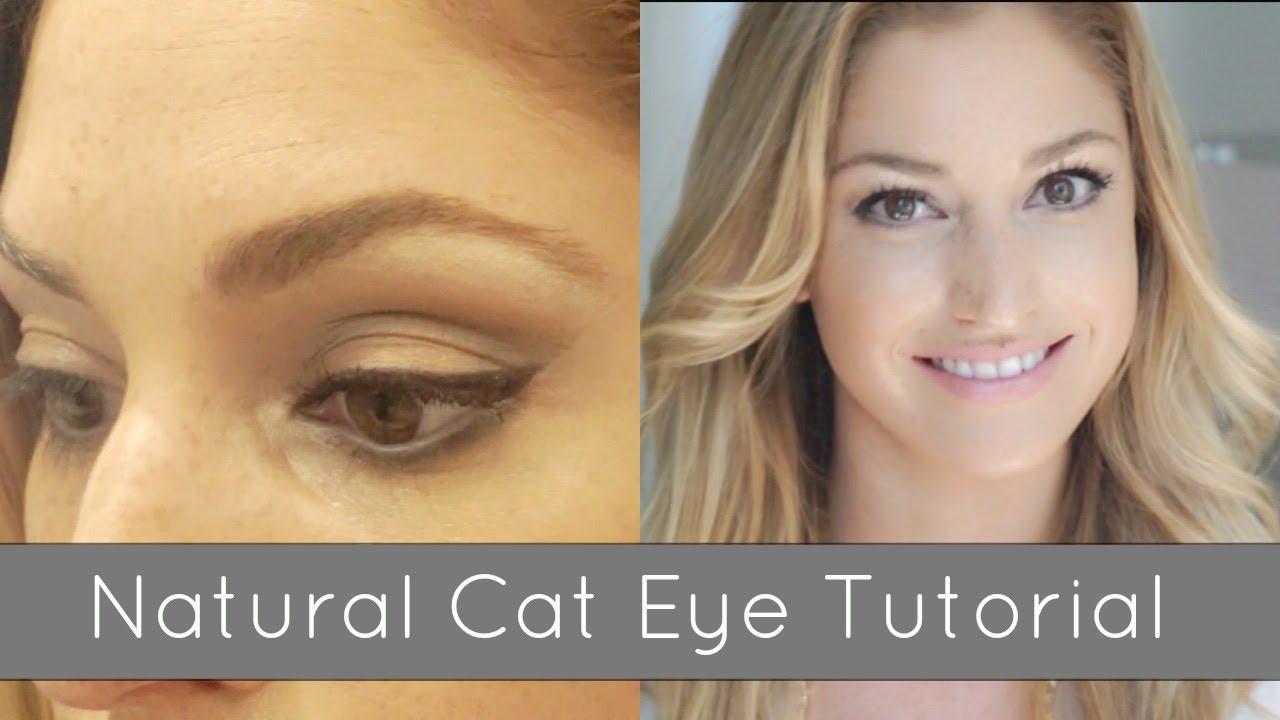 Natural Cat Eye Makeup Tutorial Youtube