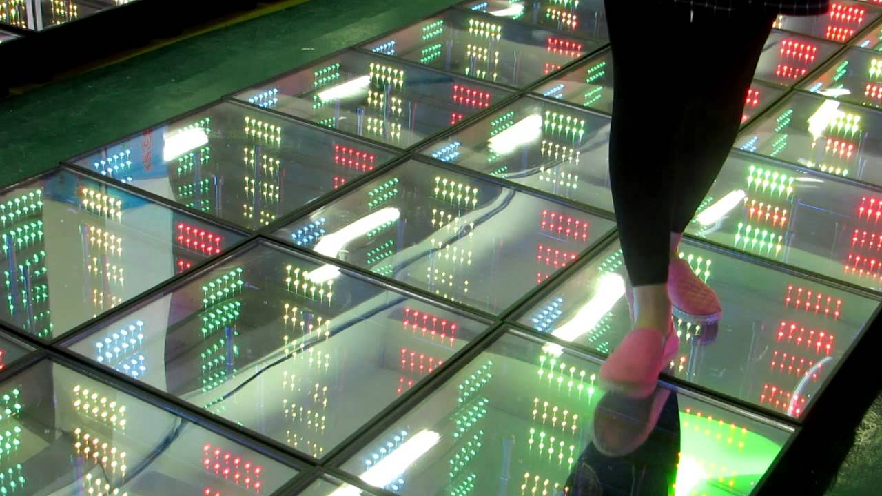 Mirror 3D Colorful Magic led dance floor - YouTube