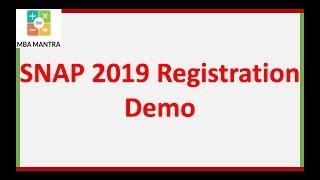 SNAP 2019 Registration Demo