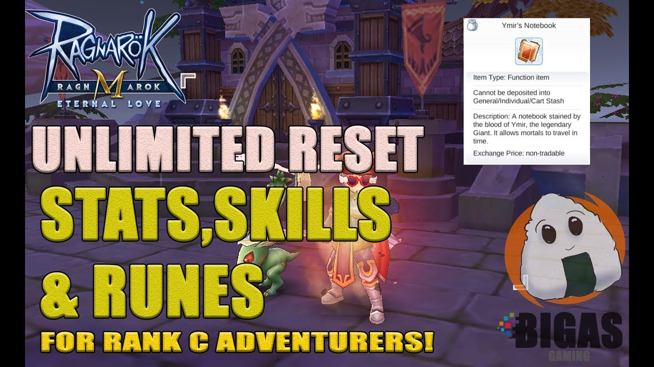 Unlimited Reset Trick for Rank C Adventurers! (Ymir's Notebook) | Ragnarok  Mobile : Eternal Love